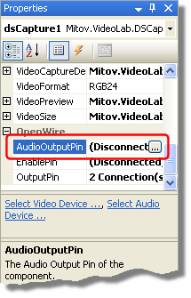 DSCapturePropertiesAudioOutputPin