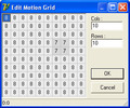 Motion Detect Matrix Editor