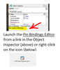 Launch Pin Bindings Editor